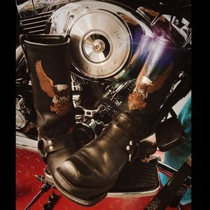 Harley 🦅 Davidson Leather HOT Biker Riding Boot